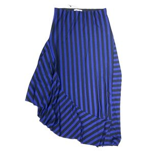 Zara | Striped Salsa Skirt Stretchy Midi